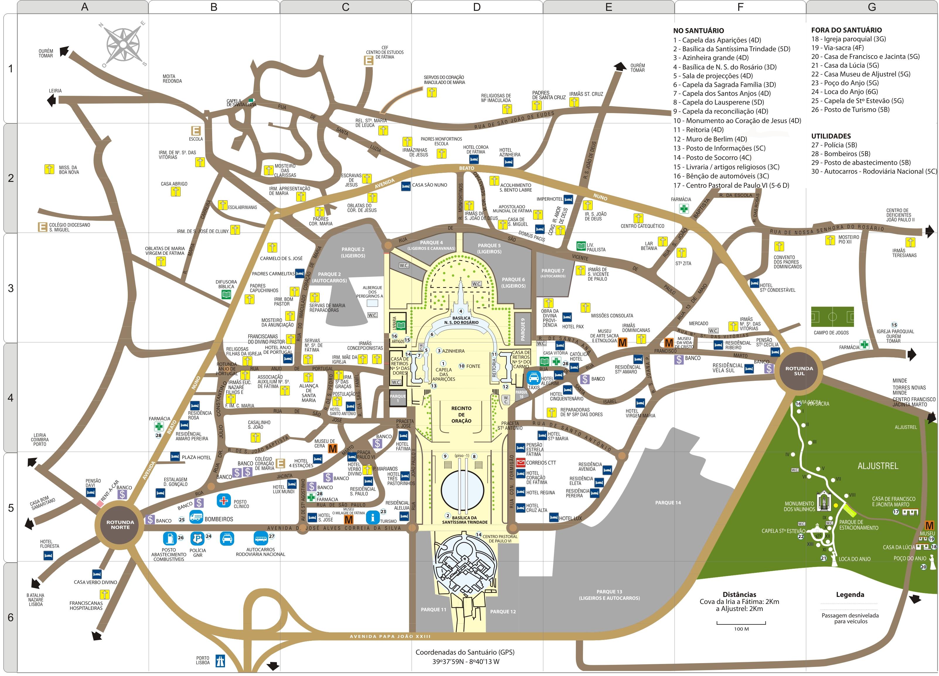 mapa fátima Mapa Fatima | thujamassages mapa fátima
