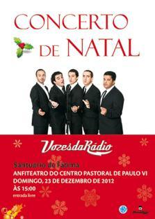 23 de diciembre:«Voces de la Radio» en el Concierto de Navidad del Santuario de Fátima