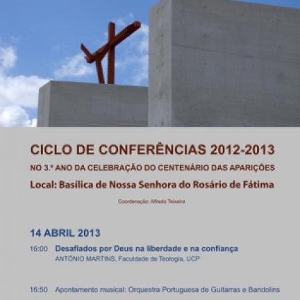 14 de abril: última conferencia del ciclo temático será sobre «Desafiados por Dios en la libertad y en la confianza»