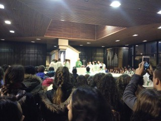 Pilgrims of the Apostleship of Prayer of Toledo to accomplish a prayer vigil in the Apparition Chapel