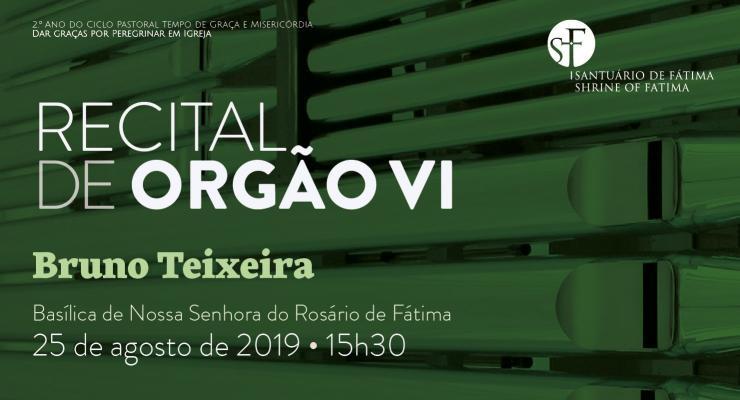 Organista Bruno Teixeira será o protagonista do Recital VI na Basílica de Nossa Senhora do Rosário de Fátima