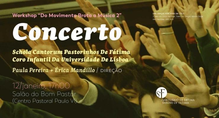 Workshop do Movimento brota a Música une coro infantil de Fátima ao da Universidade de Lisboa