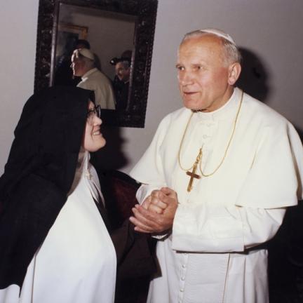 Papa João Paulo II e a Irmã Lúcia