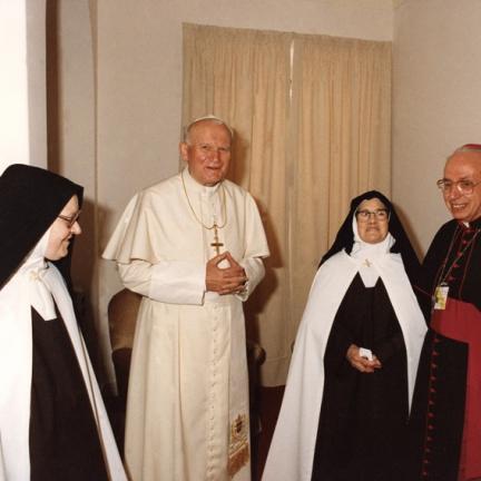 Madre Superiora, João Paulo II, Irmã Lúcia e D. Alberto