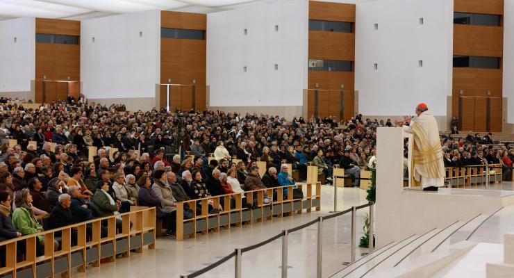 Cardeal D. António Marto presidiu à celebração da Peregrinação Mensal de janeiro no Santuário de Fátima