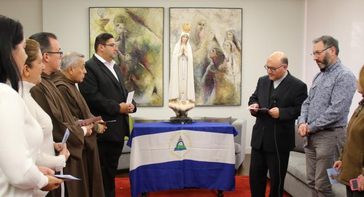 """""""Esperamos que a Virgem Peregrina nos traga consolo para vencermos as dificuldades"""" refere coordenador da Missão Fátima-Nicarágua"""