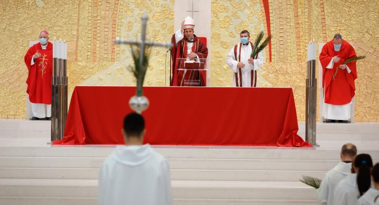 """""""Não podemos ser cristãos adormecidos"""" alertou o Cardeal D. António Marto na missa do Domingo de Ramos"""