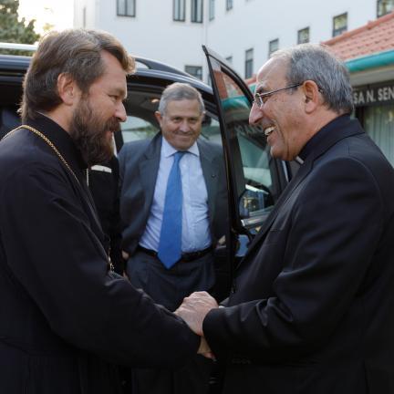 O metropolita Hilarion Alfeyev, responsável pelos assuntos externos e o diálogo com a Igreja Católica visitou o Santuário de Fátima